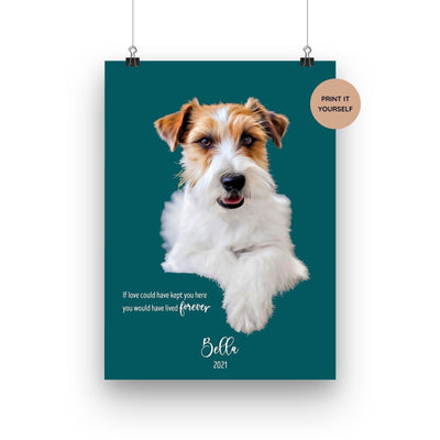 Personalised Dog Memorial Printable - Through the Milky Way