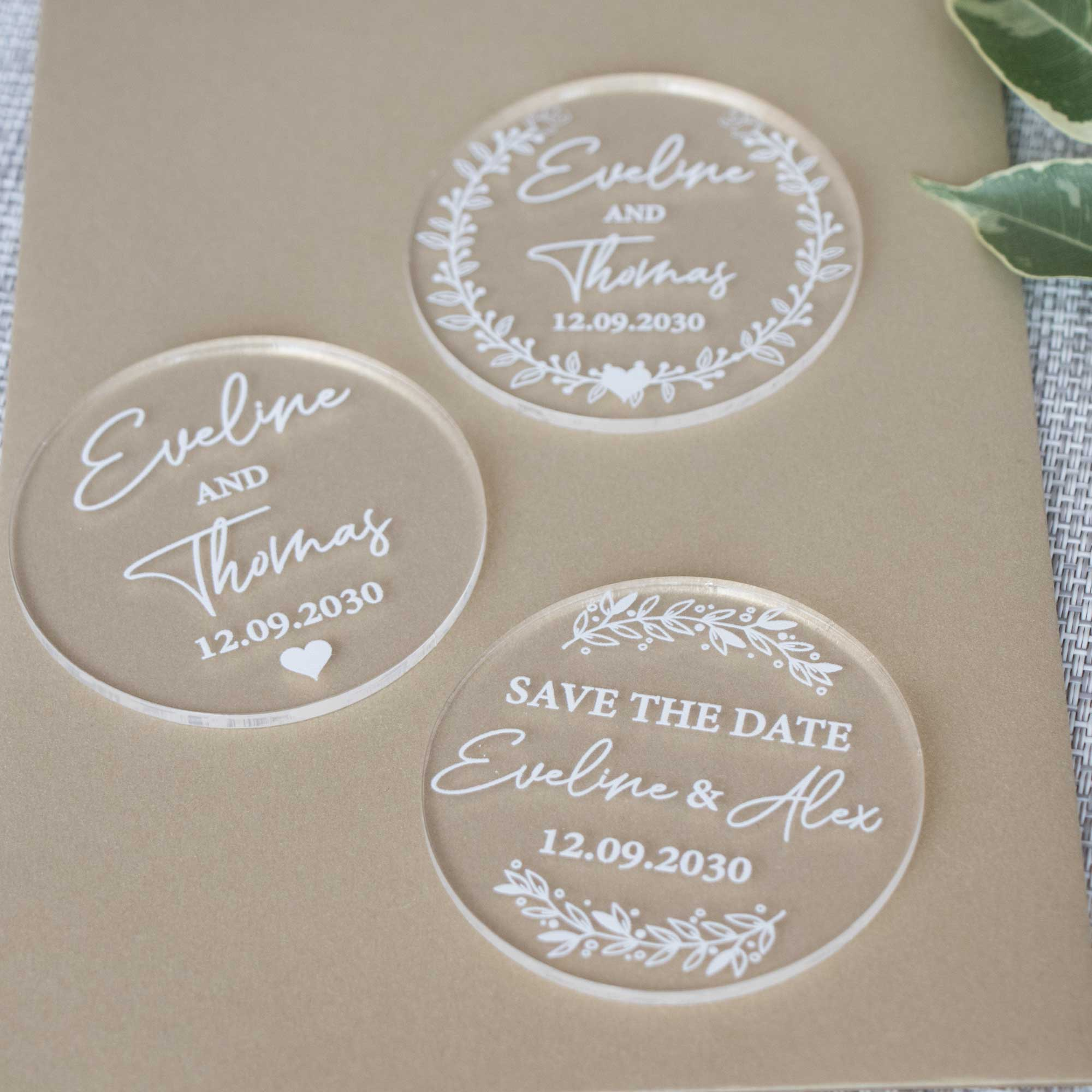 Acrylic Save the Date Cards, Personalized Magnet, Modern Save the Date Magnet, Save the Date Magnet, Clear Save the Date, Custom Wedding Save the Date
