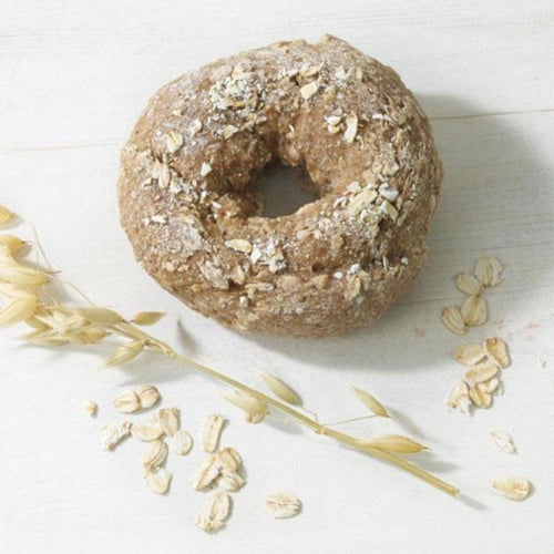 Original oat bagel from rND Bakery. Gluten free and vegan. And delicious.