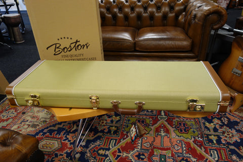 Boston California Series electric guitar case vintage tweed