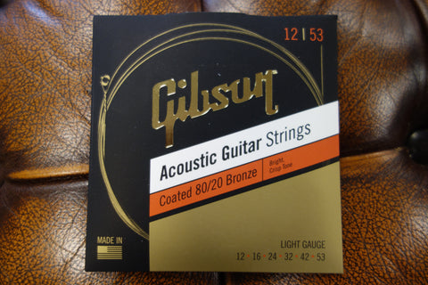 Gibson SAG-CBRW12 Coated 80/20 Bronze Acoustic Guitar Strings Light