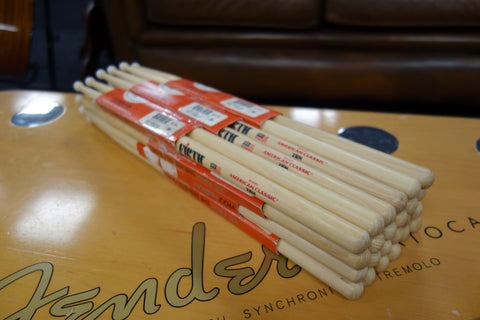 Vic Firth 2BN American Classic 12 Hickory 12 Pack Discounted