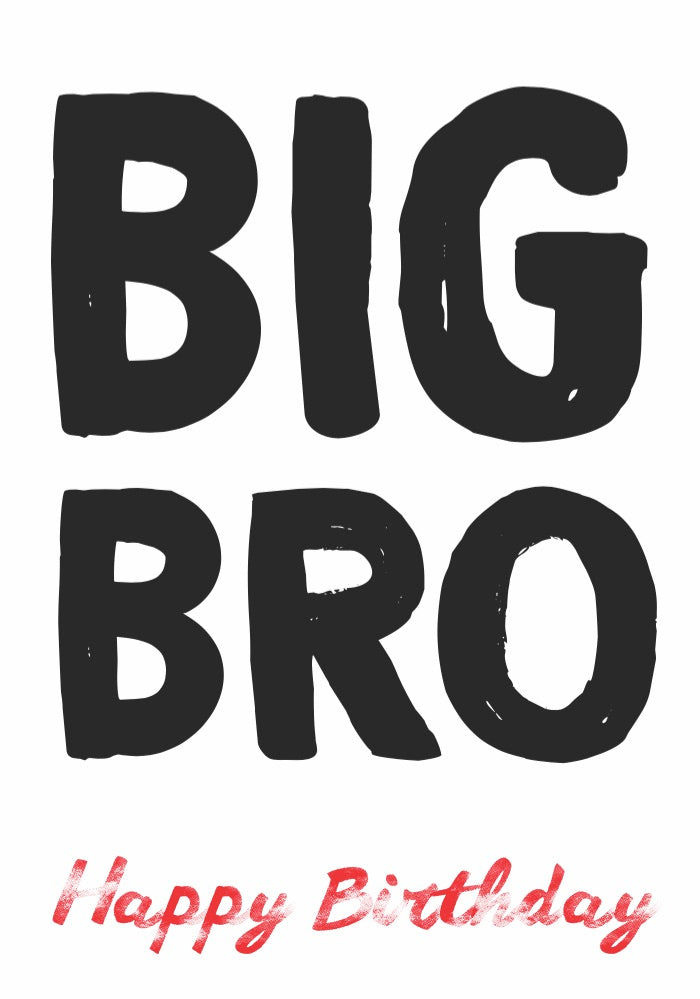 """Big Bro"" Card"