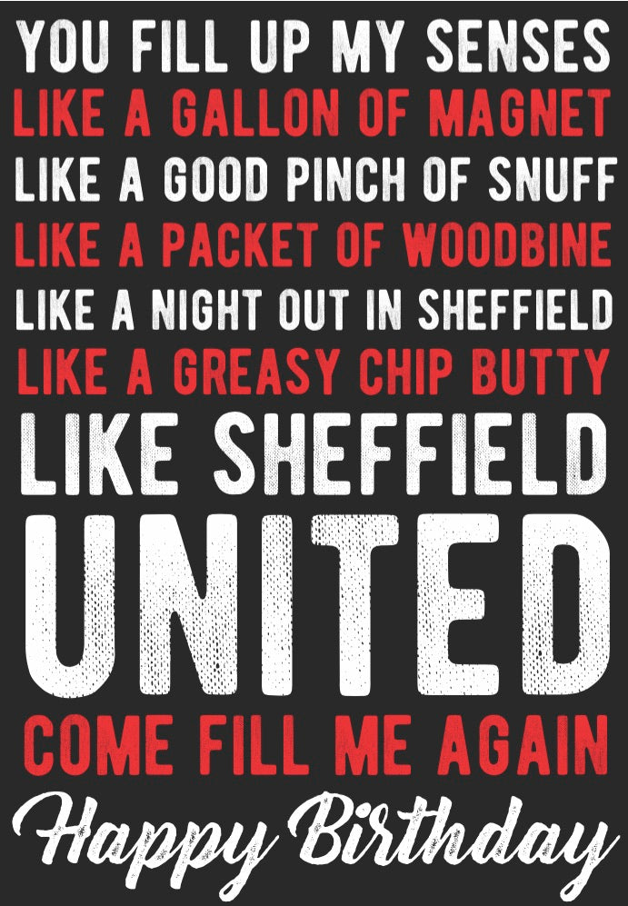 """Sheffield United"" Card"
