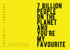 """7 Billion People"" Card"