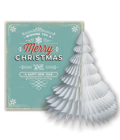 PaperJoy Xmas: Vintage Merry Christmas with White Tree