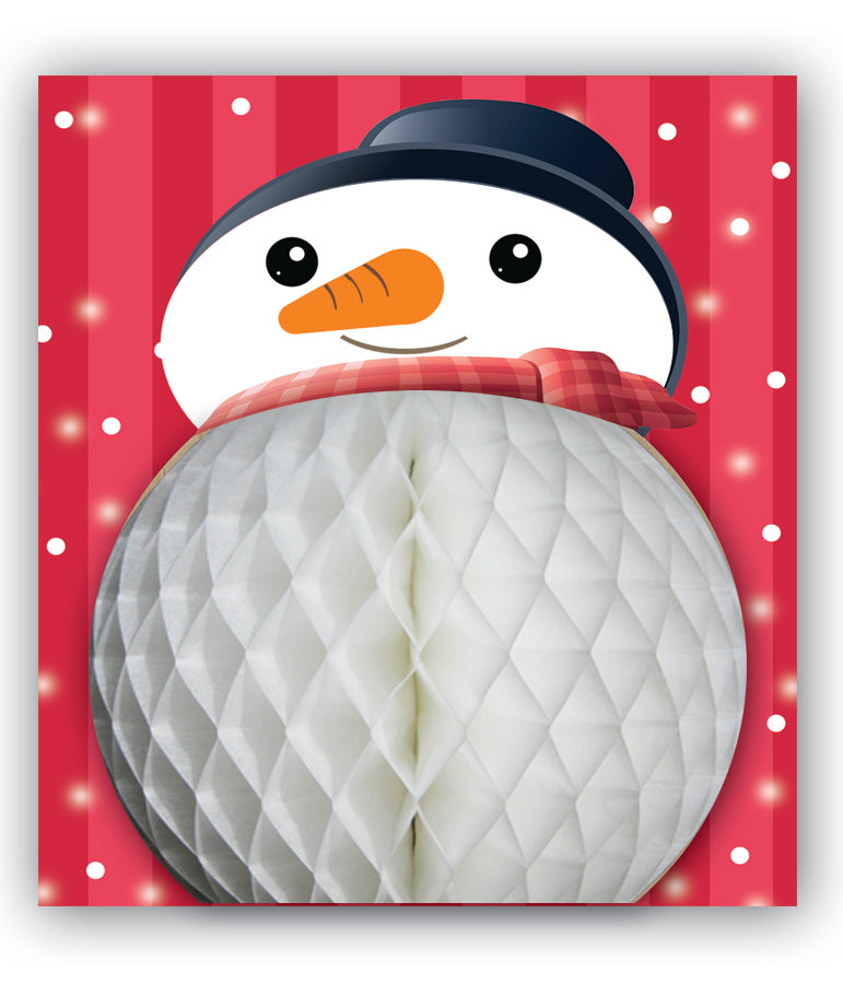PaperJoy Xmas: Large Snowman Red Background
