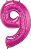 Number Shape Balloon MAGENTA