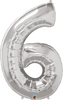 Number Shape Balloon SILVER
