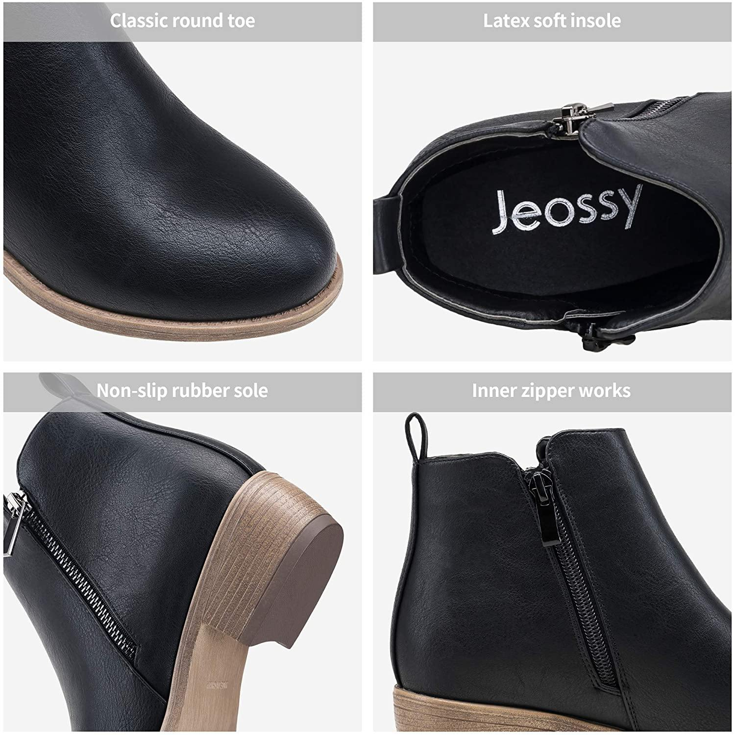Women's Ankle Boots Thick Heel | Jeossy - Top shoes club