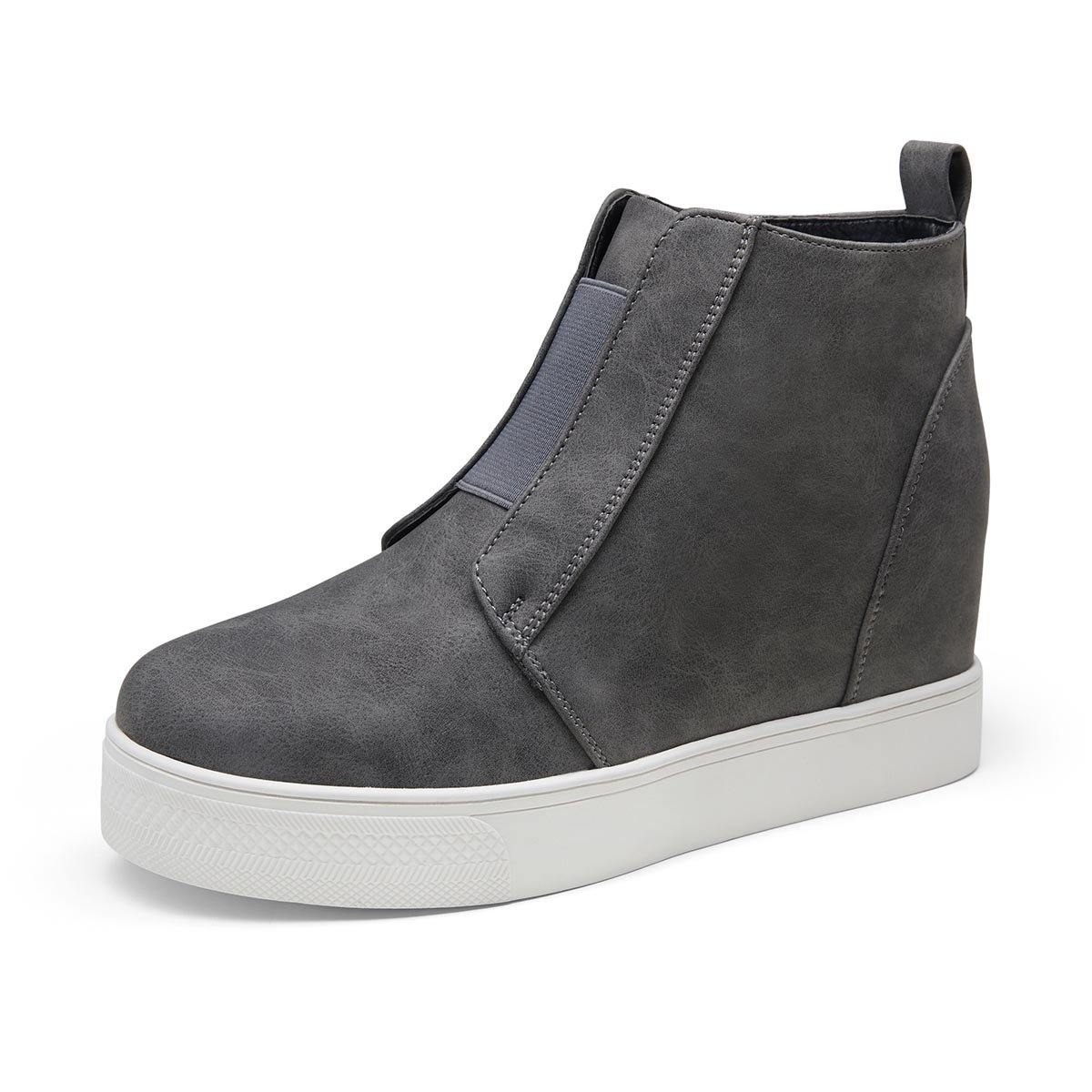 Women's Hidden Wedge Sneakers Casual Platform | Vepose - Top shoes club