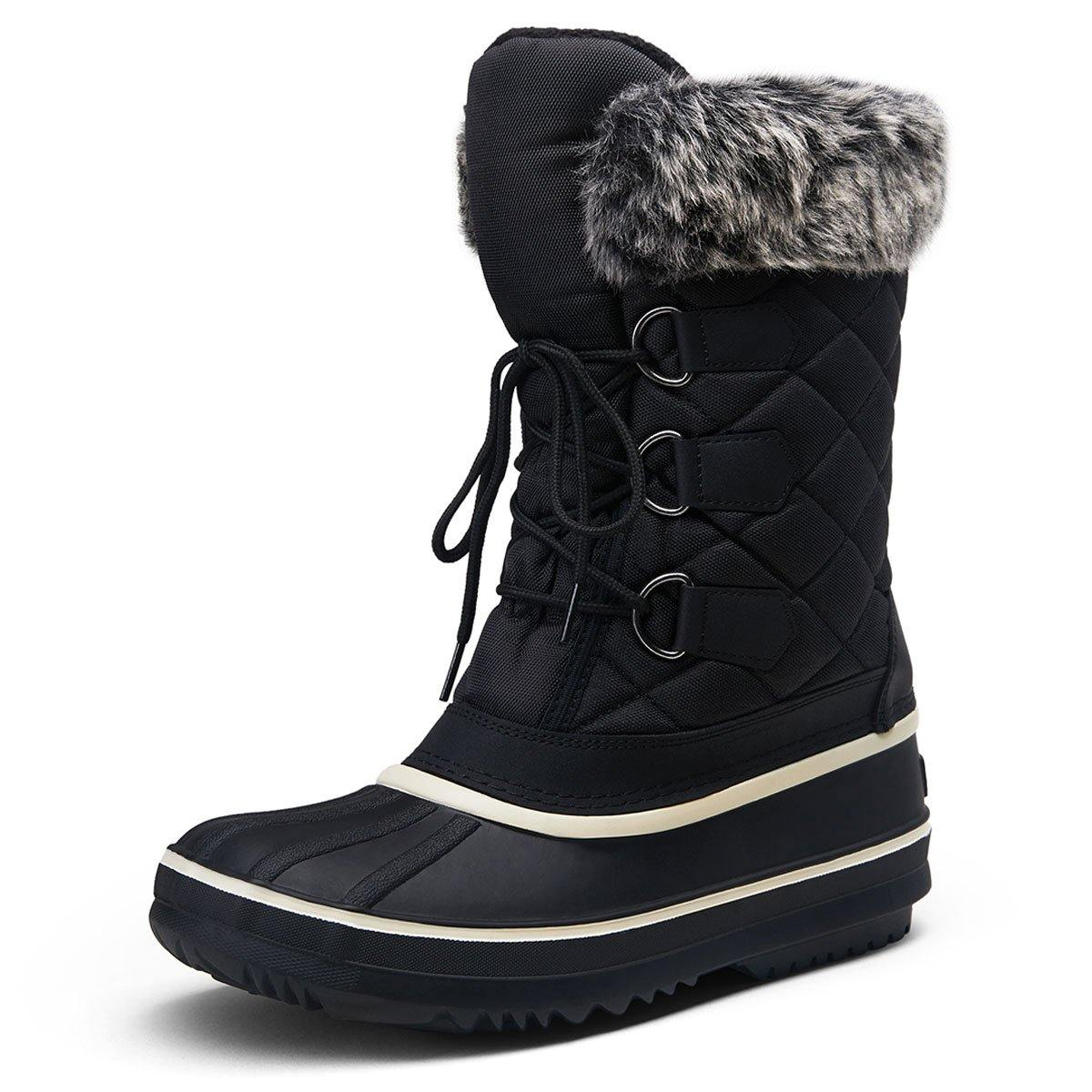 Women's Snow Boots Fuzzy Waterproof Winter Shoes | Vepose - Top shoes club