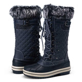 Women's Waterproof Snow Boots Knee High Mid Calf | Vepose - Top shoes club