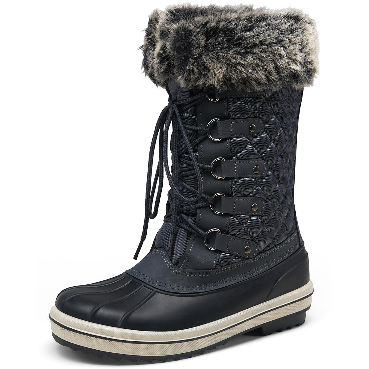 Women's Snow Boots Waterproof Fur Shoes | Vepose - Top shoes club