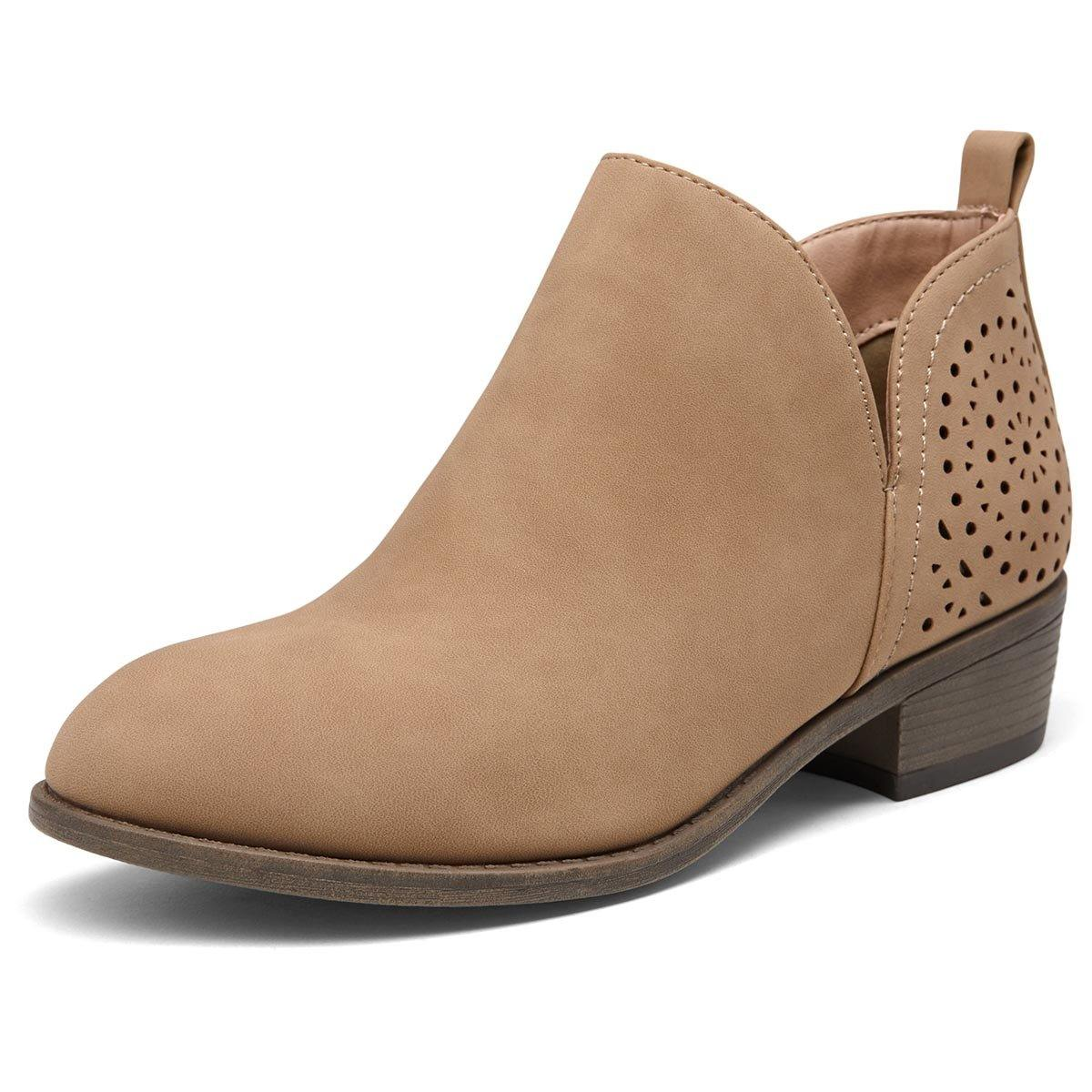 Perforated Western Women Shoes Low Heels | Vepose - Top shoes club