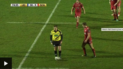 Watch: Ref Owens gives ball boy a yellow card!