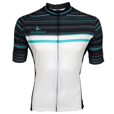 White/Black/Mint Full Zip Short Sleeve Cycling Jersey (Fast Delivery)