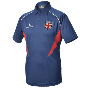 Olorun Flux England Football Polo Shirt - Navy/Red/White