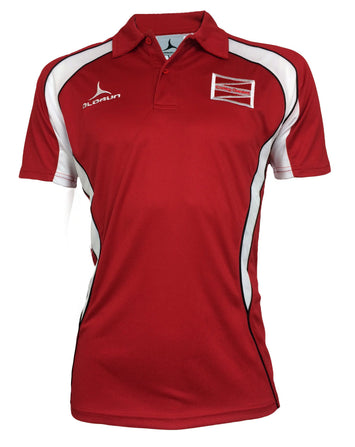 Coleg Gwent Adult's Iconic Polo Shirt - Red/White/Black