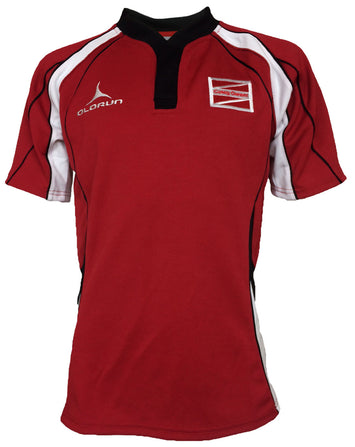 Coleg Gwent Adult's Flux Rugby Shirt - Red/Black/White
