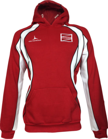 Coleg Gwent Adult's Iconic Hoodie - Red/White/Black