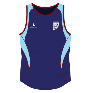 Mersham Sports Club Adult's Iconic Vest - Navy/Sky/Burgundy