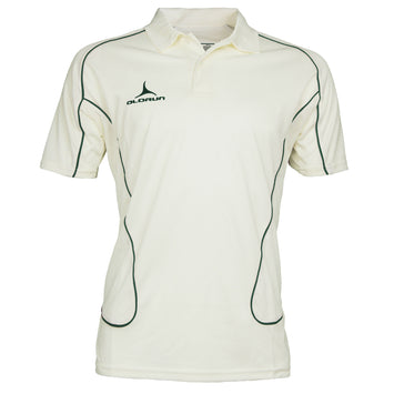 Olorun Men's Cricket Short Sleeve Polo Green