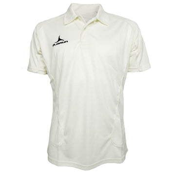 Olorun Kid's Cricket Short Sleeve Polo Cream