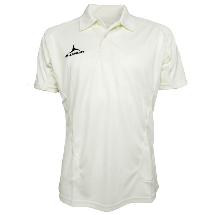 Olorun Men's Cricket Short Sleeve Polo Cream