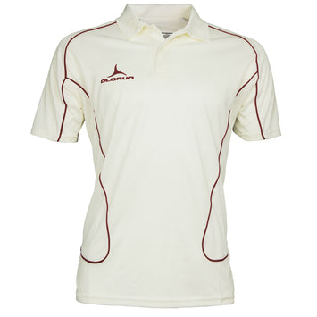 Olorun Men's Cricket Short Sleeve Polo Burgundy