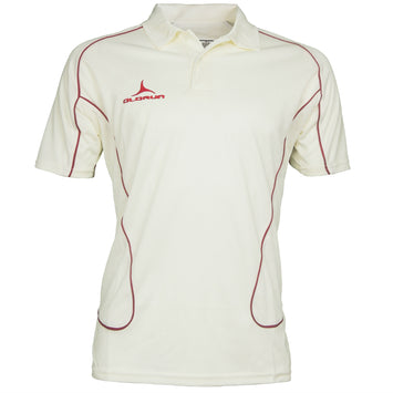 Olorun Men's Cricket Short Sleeve Polo Red