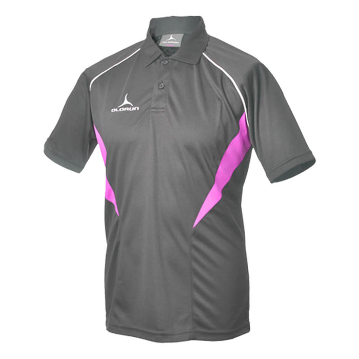 Olorun Flux Polo Shirt Dark Grey/Hot Pink/White (Fast Delivery)