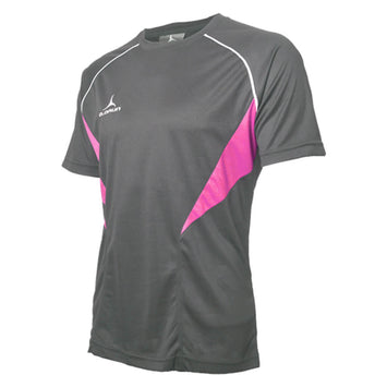 Olorun Flux T Shirt Dark Grey/Hot Pink/White (Fast Delivery)