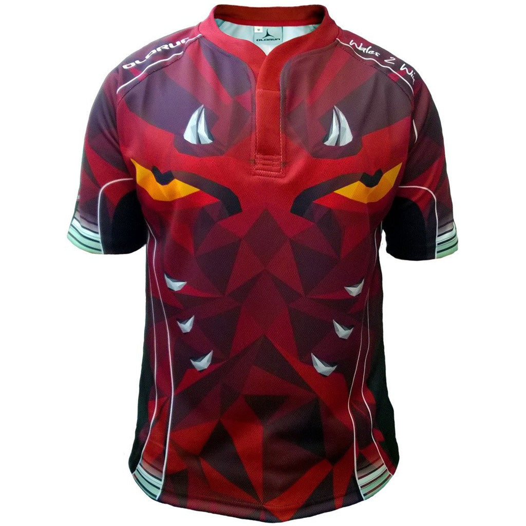 SMALL Adults Official WRU Long Sleeve Rugby Shirt Welsh Top Gift