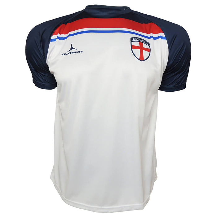 Olorun England Supporters Football Shirt - White