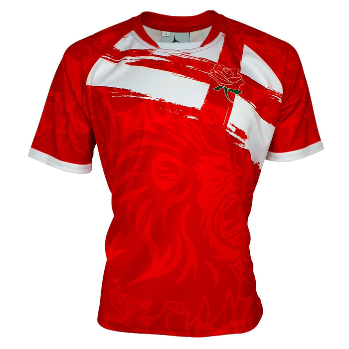 Pride of England Rugby Shirt Red (Fast Delivery)