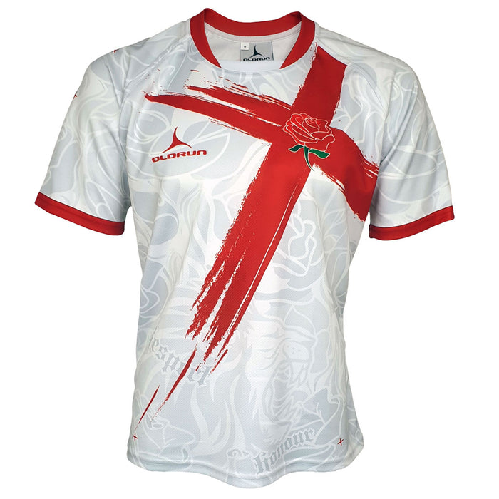 Pride of England Rugby Shirt White (Fast Delivery)