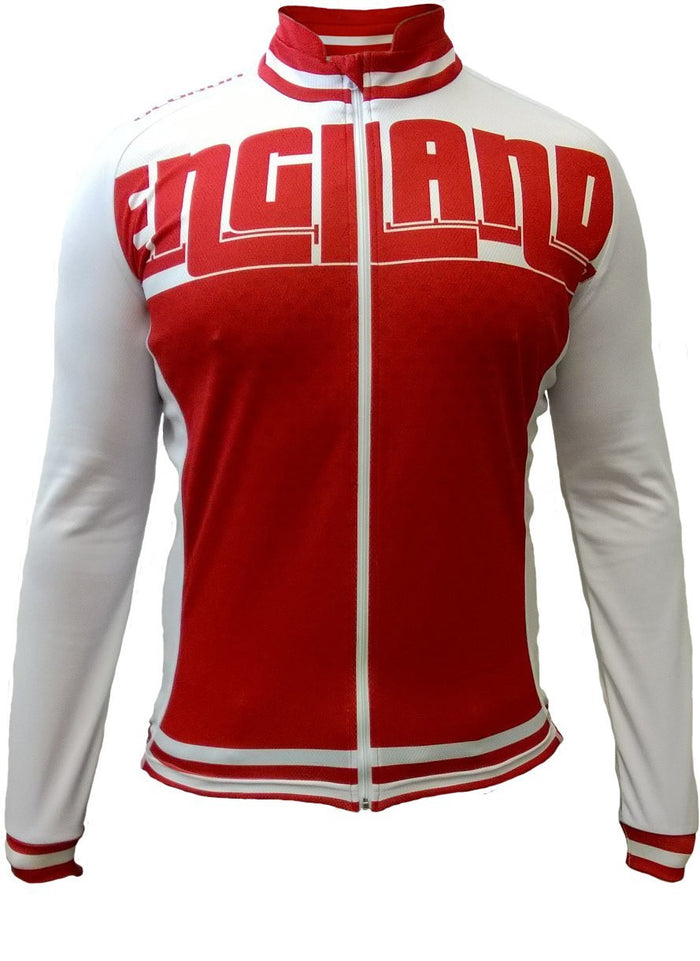 Olorun England Full Zip Long Sleeve Cycling Jersey (Fast Delivery)