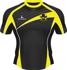 Dresden Hillbillies Exofit Men's Rugby Playing Shirt Yellow/Black 2