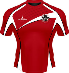 Dresden Hillbillies Exofit Men's Rugby Playing Shirt Red/White
