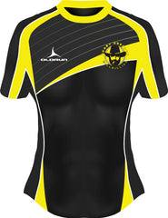 Dresden Hillbillies Exofit Women's Rugby Playing Shirt Yellow/Black 2 Fast Delivery