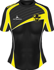 Dresden Hillbillies Exofit Women's Rugby Playing Shirt Yellow/Black Fast Delivery