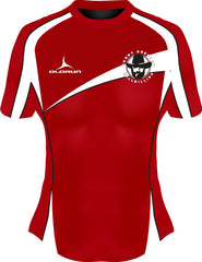 Dresden Hillbillies Exofit Women's Rugby Playing Shirt Red/White
