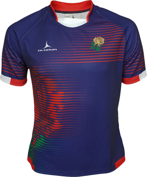 Olorun Contour England Home Nations Rugby Shirt (Away Design - Navy)