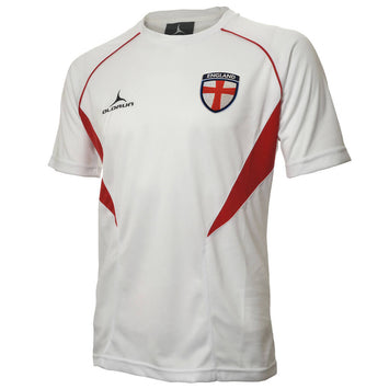 Olorun Flux England Football T-Shirt - White/Red/Red