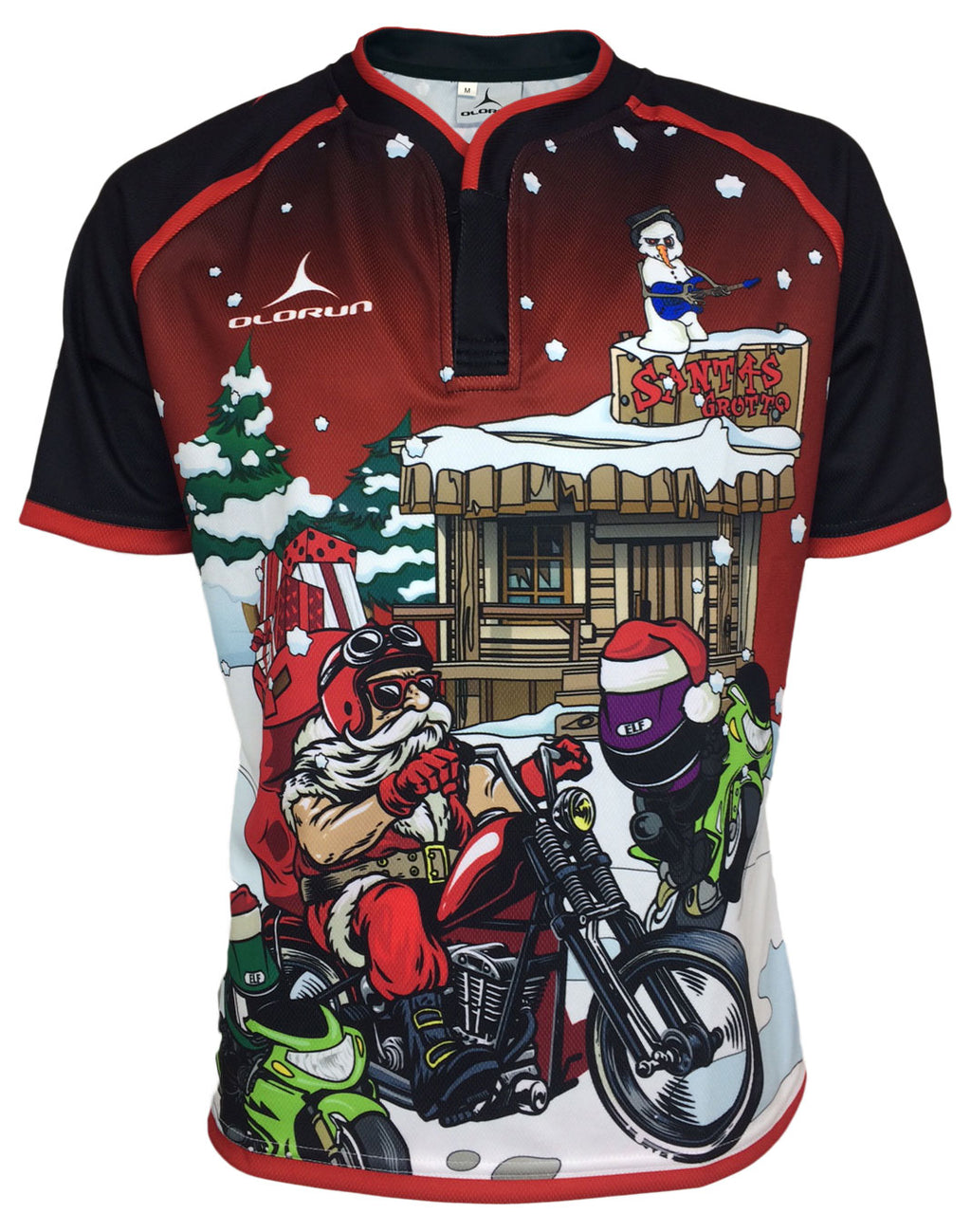 Olorun Hells Angels Christmas Rugby Shirt c378a968f