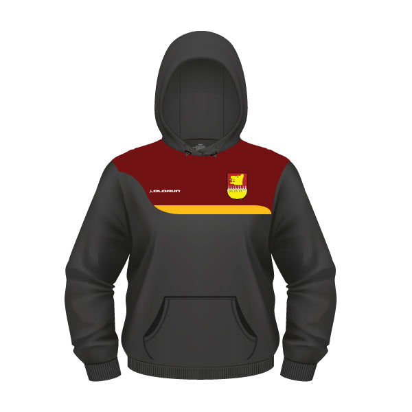 Hampstead RFC Women's Tempo Hoodie - Black/Burgundy/Amber