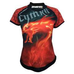 Olorun Women's Wales Dragon Inferno Rugby Shirt