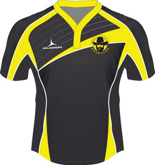 Dresden Hillbillies Laxfit Kid's Rugby Playing Shirt Yellow/Black Fast Track