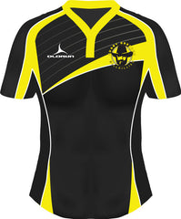 Dresden Hillbillies Laxfit Women's Rugby Playing Shirt Yellow/Black Fast Delivery